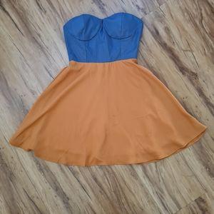 Avanah Size 6 Blue Tube Dress | Summer Sexy Maxi Dress